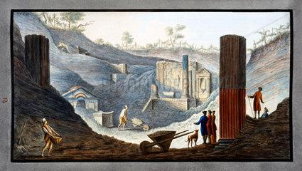 Temple of Isis at Pompeii  Kingdom of Naples  c 1767.