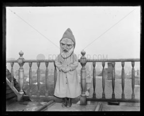 'One Of The Adams Children Wearing Mask...'  c 1900.