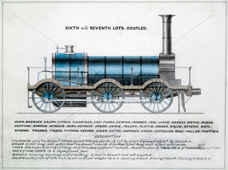 'Sixth and Seventh Lots  coupled'  steam locomotive  1857.