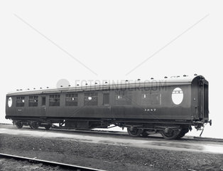 Third Class railway carriage  Doncaster Works  South Yorkshire  24 May 1945.