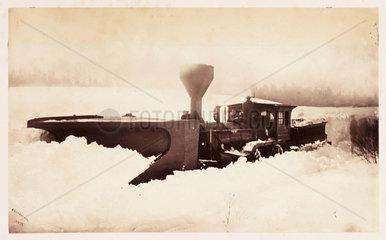 'Trains snowed up'  1860.