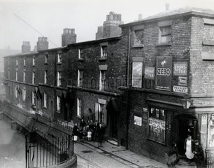 Slum property in Liverpool  Merseyside  2 March 1933.