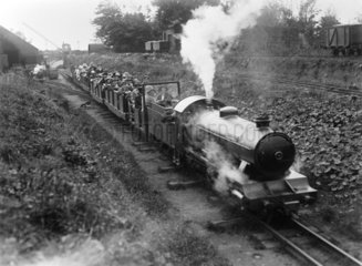Train on the Ravenglass & Eskdale Railway  c 1927.