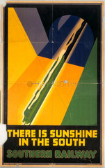 'There is Sunshine in the South'  Southern Railway poster  1930.