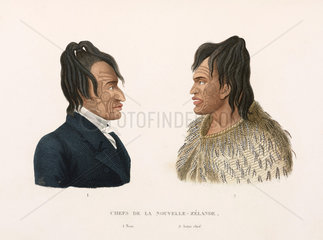 Tattooed Maori chiefs of New Zealand  1822-1825.