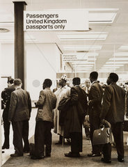 Nigerian immigrants  London Airport  1 July 1962.