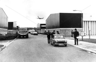 Brinks-Matt security warehouses  Heathrow Airport  1983.