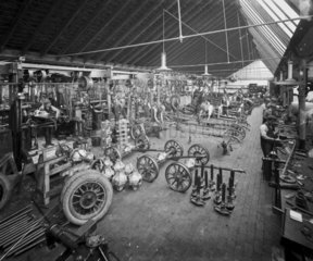 Early car factory  Bishops Green  Coventry  West Midlands  1907.