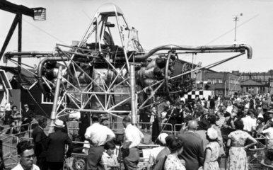 Rolls-Royce Thrust Measuring Rig (TMR) XJ314 at Farnborough  July 1955.