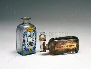 Laudanum bottles  19th century.
