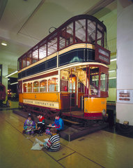 Glasgow Corporation Tram Car no 585  1901.