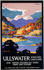 'Ullswater - English Lake-Land'  LNER poster  1923-1947.