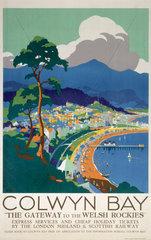 'Colwyn Bay'  LMS poster  c 1930s.