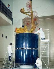 Intelsat IVA communications satellite  1975.