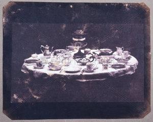 Table set for tea  c 1843.