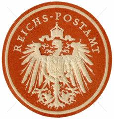 uraltes Papiersiegel  Reichspostamt  1890