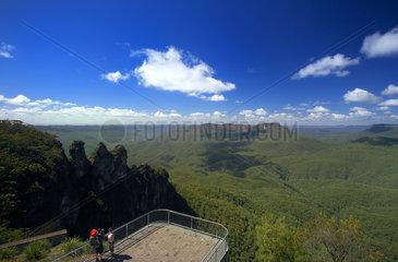 Katoomba  Australien  Ausblick vom Spooners Lookout auf den Blue Mountains Nationalpark