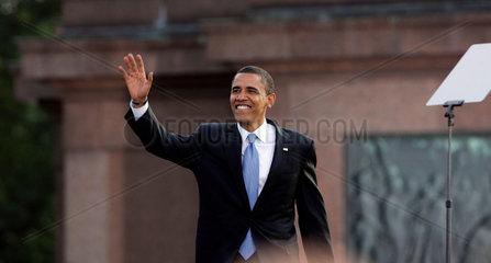 U.S. Democratic presidential candidate Sen. Barack Obama