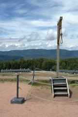Natzwiller  Frankreich  der Galgen des ehemaligen KZ Natzweiler-Struthof