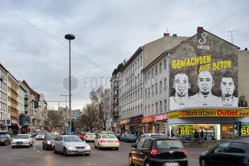 Berlin  Deutschland  Nike-Werbung an einer Brandwand