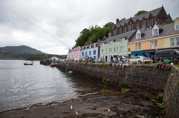 Portree  Grossbritannien  Fischerort auf der Isle of Skye