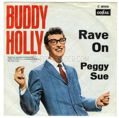 Schallplatte  Rave On  Peggy Sue  Hit von Buddy Holly  1957  1958