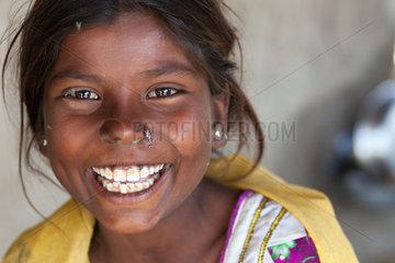 Gunglo Santani  Pakistan  Portrait eines Maedchens