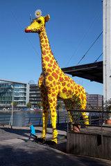 Duisburg  Deutschland  die Lego Giraffe vor dem Legoland Discovery Centre
