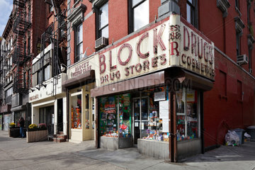 New York City  USA  Block Drug Stores in Manhattan