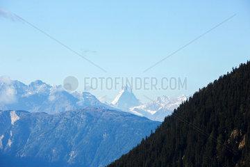 Riederalp  Schweiz  Blick zum Matterhorn