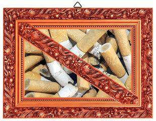 Rauchverbot  Zigarettenkippen  Humor