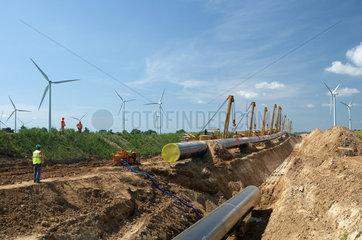 Schulzendorf  Deutschland  Baustelle der Opal-Gaspipeline