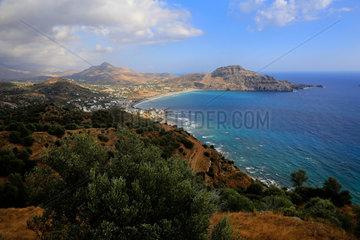 Plakias  Griechenland  Blick auf die Bucht von Plakias auf der Insel Kreta