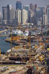 Hong Kong  China  Blick von Wan Chai auf eine Baustelle im Stadtteil Causeway Bay