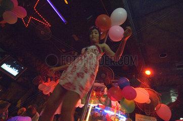 Patong  Thailand  Nachtleben auf der Partymeile Patong Beach