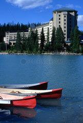 Banff  Kanada  das Hotel Fairmont Chateau Lake Louise am Lake Louise