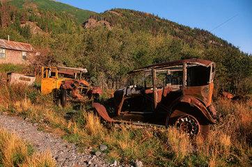 McCarthy  USA  Autowracks im Wrangell-St.-Elias-Nationalpark