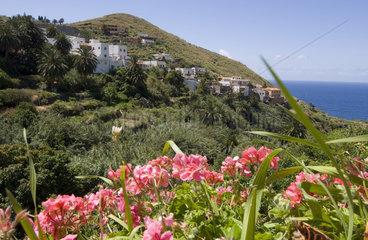Almaciga  Spanien  Blick zum Atlantik und Almaciga