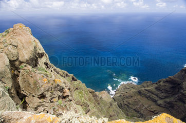 Chinamada  Spanien  Blick auf den Atlantik vom Mirador de Aguaide