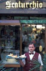 Campania  Naples  Scaturchio bar waiter