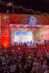 Chisinau  Moldau  Konzert am Tag der Unabhaengigkeit