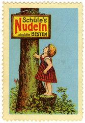 Werbung fuer Schuele Nudeln  1912