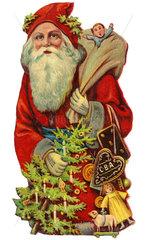 Weihnachtsmann  Poesiebild  1910