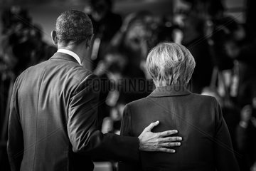 Merkel empfaengt Regierungschefs