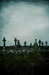 Historischer Friedhof in Irland