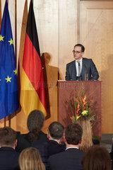 Berlin  Deutschland - Der neue Aussenminister Heiko Maas haelt seine Antrittssrede beim Ministerwechsel im Weltsaal des Aussenministeriums.