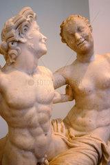 Skulpturengruppe Satyr und Hermaphrodite