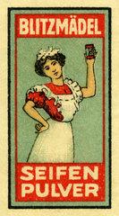 Blitzmaedel Seifenpulver  Werbung  1913