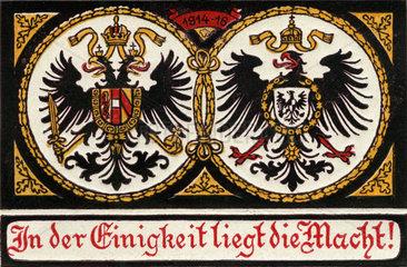 Deutsch-oesterreichisches Militaerbuendnis im Ersten Weltkrieg  1916
