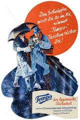 Tempo Taschentuecher  Werbeaufsteller 1939